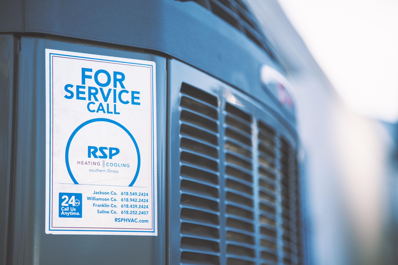 For Service call RSP HVAC
